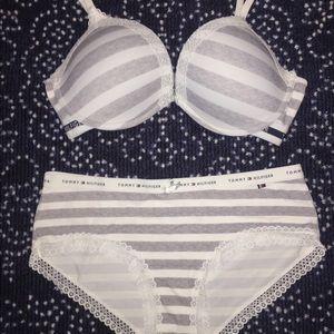Tommy Hilfiger Intimates   Sleepwear - Silky bra and underwear set 7dfdec3c9
